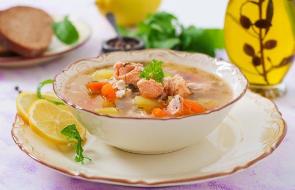 Potage de saumon et de légumes au cookeo