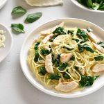 Spaghettis poulet et feuilles d'épinard au multicuiseur cookéo