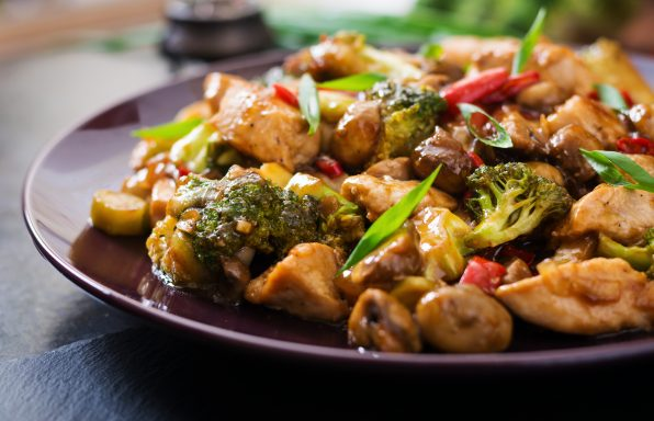 Poulet brocolis au soja au cookeo