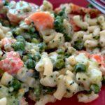 Coquillettes et légumes à la crème de St Moret au cookeo