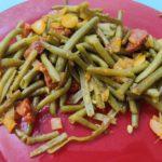 Haricots verts au chorizo au cookeo
