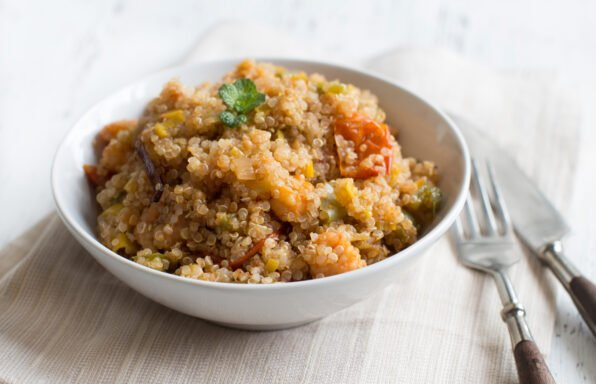 Quinoa et légumes au cookeo
