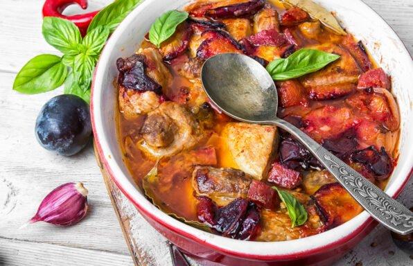 Porc aux prunes et au vin blanc au cookeo