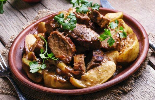 Rôti de porc aux pommes et miel au cookeo