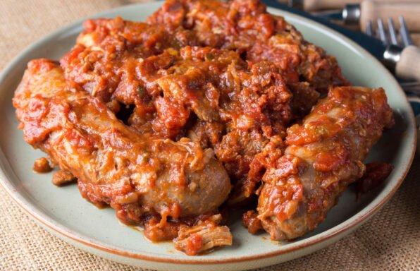 Saucisses et sauce ragù à l'Italienne au cookeo