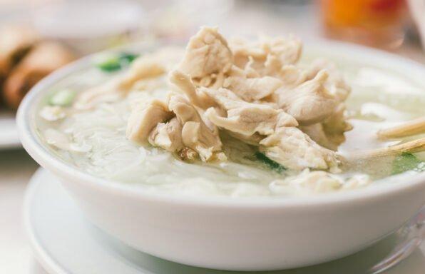 Soupe de poulet au basilic au cookeo